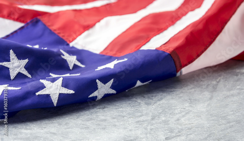Foto op Plexiglas Texas USA or american flag on cement background with copy space