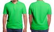 Leinwandbild Motiv Green Polo Shirt Design Template