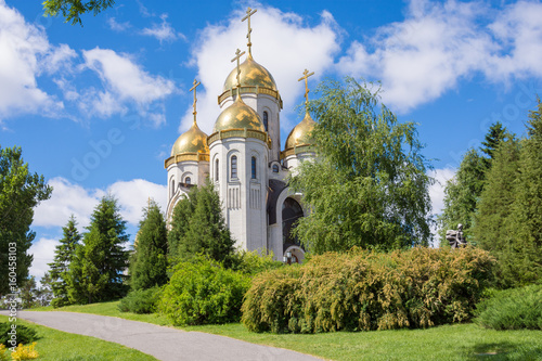 Zdjęcie XXL Wołgograd. Rosja - 3 czerwca 2017 r. Kościół wszystkich świętych w Mamayev Kurgan w Wołgogradzie