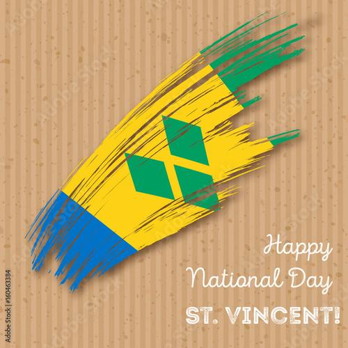 St  Vincent Independence Day Patriotic Design  Expressive