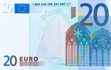 Close-up Of Part 20 Euro Bankn...