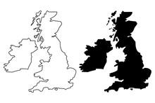 British Isles Map Vector Illus...
