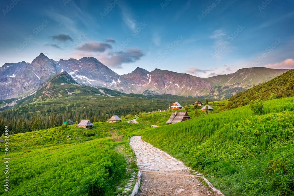 Fototapety, obrazy: Tatra mountains landscape, Hala Gasienicowa