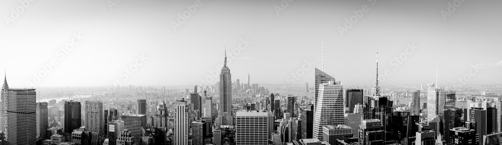 Fototapety, obrazy: Panorama New York City from above with Empire State Building