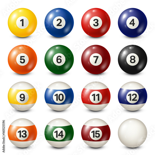 Fototapeta  Billiard,pool balls collection