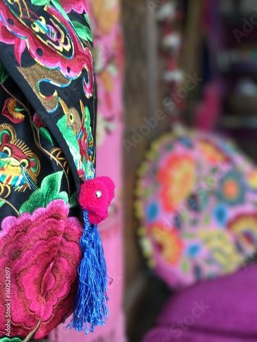 Spoed Fotobehang Carnaval Dekoration Stickerei Farbenfroh Bunt