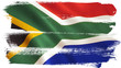 canvas print picture - South Africa Flag