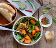 Vietnam food, bread with stewed beef