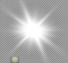 Glow Light Effect. Starburst W...