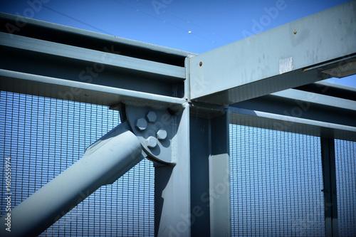 Fotografie, Obraz  Construção, arquitectura, ponte, ferro, solda, parafusos, abstracto
