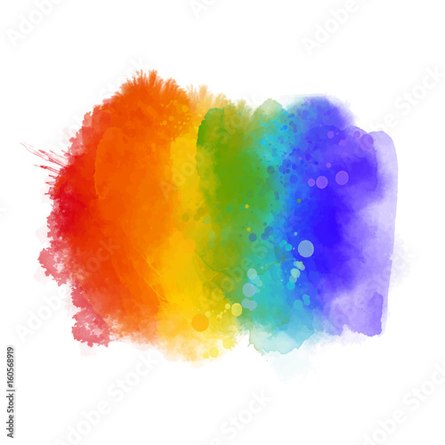 Photo  Rainbow paint texture, gay pride symbol