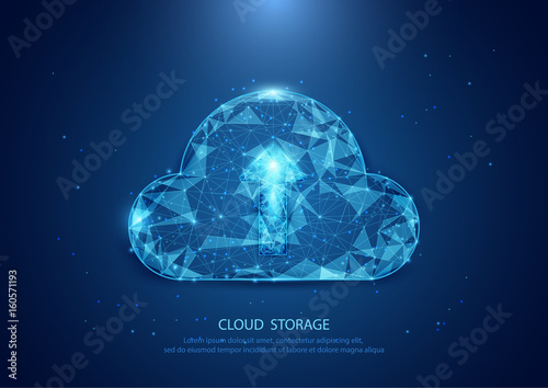 Abstract cloud form of a starry sky technology internet, data, connection concept background. wireframe concept design