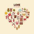 love farm flat icon vetor illustration design graphic