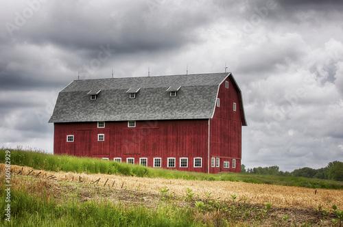 Fotografie, Obraz  Red Barn Dairy Barn