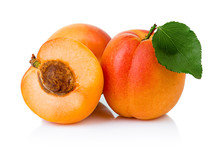 Ripe Apricot Fruits With With ...