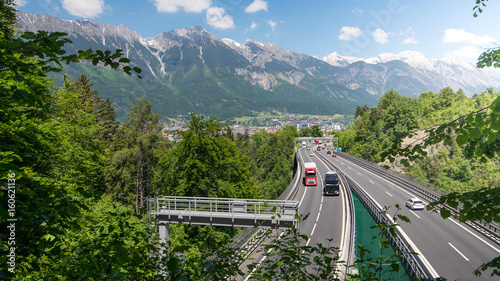 Obraz Transit traffic over the Brenner, Austria - fototapety do salonu