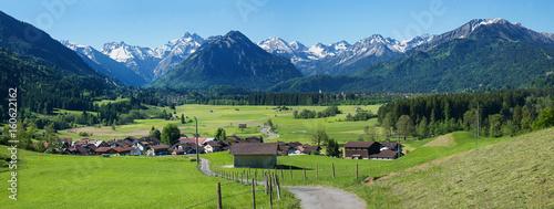 Alpenlandschaft im Allgäu bei Rubi, vorort von Oberstdorf