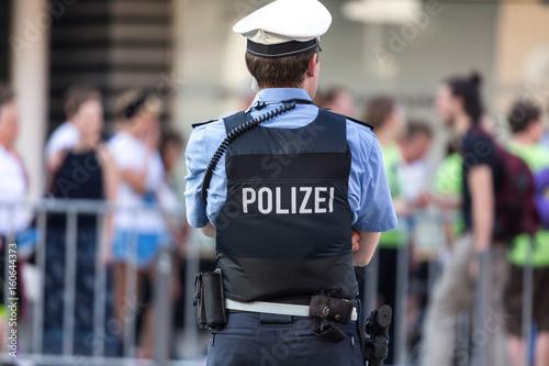 Fotografie, Obraz  german police officer