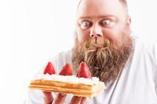 Man Staring At Dessert