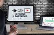 ONLINE LEARNING Connectivity Technology Coaching Skills Teach Digital Online Internet