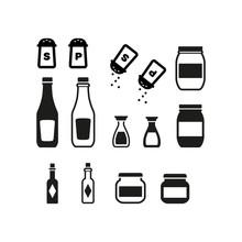 Kitchen Jars Icon Set