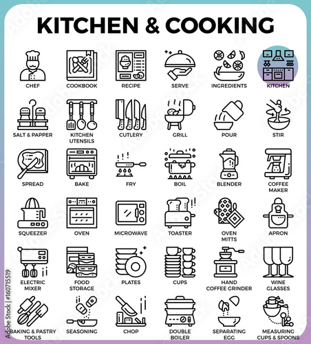 Photo  Kitchen and cooking icons