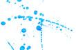 Abstract blue ink splash