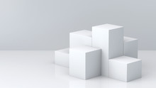 White Cube Boxes With White Bl...