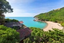 View On The Than Sadet Beach,koh Phangan Island,Thailand