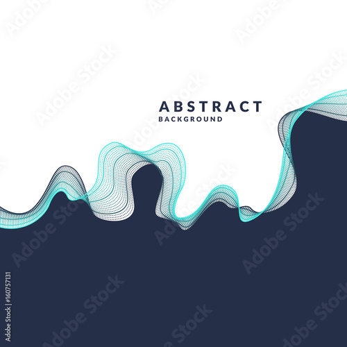 Photo  Vector abstract background with a colored dynamic waves, line and particles