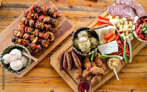 Traditional Homemade Romania and Moldova food