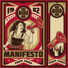Vintage Propaganda Poster And ...