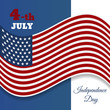 Banners with american flag card design eps 10 vector