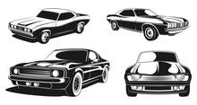 Monochrome Illustration Set Of...