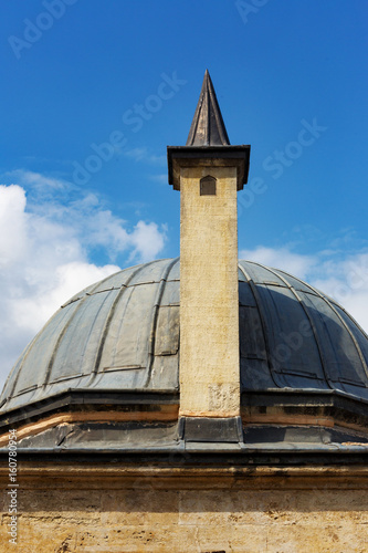 courtyard of Suleymaniye mosque and architectural details,Istanbul Poster