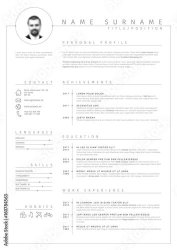 Vector minimalist cv / resume template – kaufen Sie diese ...