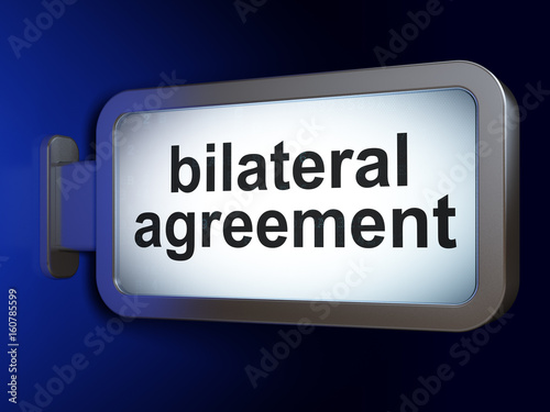 Insurance Concept Bilateral Agreement On Billboard Background Buy