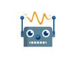 Robot Logo Template Design Vector, Emblem, Design Concept, Creative Symbol, Icon