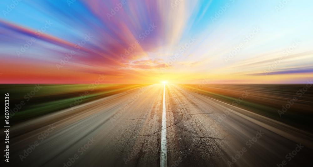 Fototapety, obrazy: Highway road
