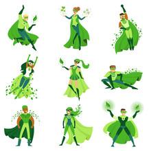 ECO Superhero Characters Set, ...