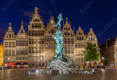 Fotobehang Antwerpen Grote Markt in Antwerp - Belgium