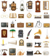 Big Set Of Much Objects Retro ...