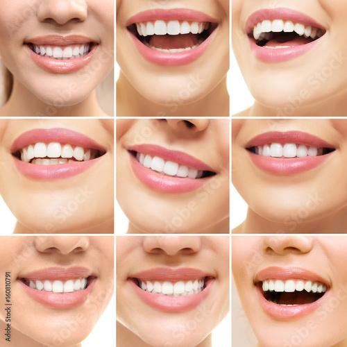 Collage of smiling women, closeup #160810791