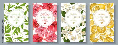 Fotografie, Obraz  Tea flavour banners set
