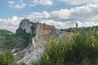 The great landslide of San Leo. Medieval village. Rimini