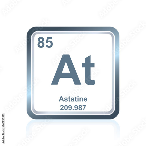 Chemical element astatine from the Periodic Table Canvas Print