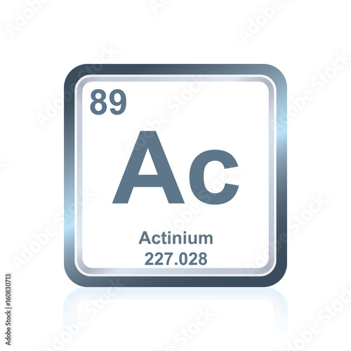 Chemical element actinium from the Periodic Table Wallpaper Mural