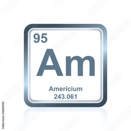 Chemical element americium from the Periodic Table Wallpaper Mural