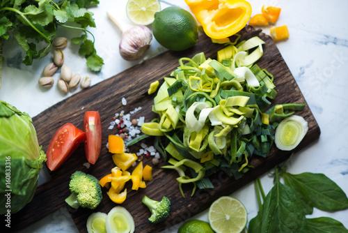 Poster Cuisine Chopped vegetables