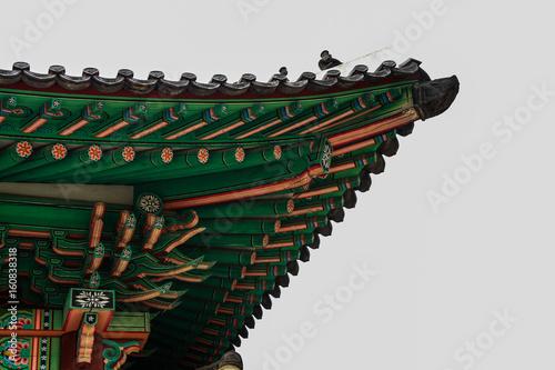 korean traditional roof tile Poster